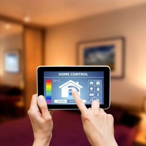 Tablet con control remoto de sistemas de la casa