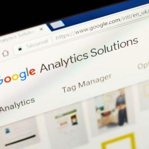Interfaz de Google Analytics