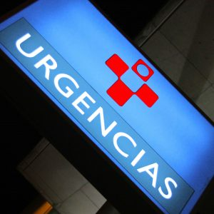 Cartel de urgencias